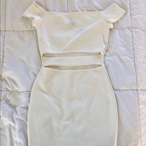 Ivory/White Party Dress with Slits